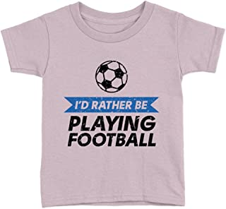 Rather Be Playing Football Kids T-Shirt Funny Cool Rugby Lover Top Gift Present