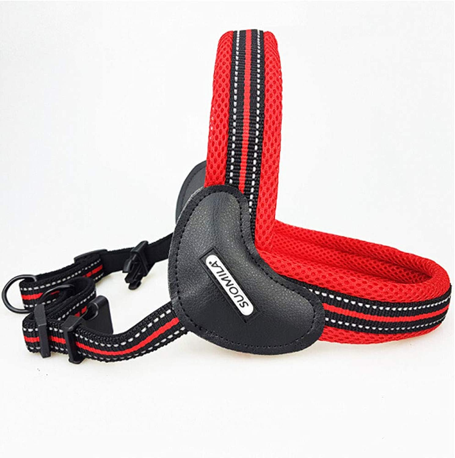 Dog Vest Harness, Reflective Adjustable Front Vest, Suitable for Medium and Large Dogs in Summer  red (Size   4070)