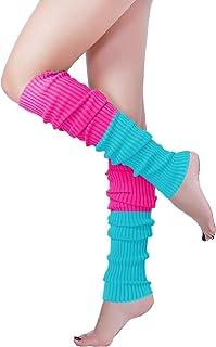 Long Leg Warmer, V28 Women Men 80s Eighty's Ribbed Knit Dance Sports Leg Warmers