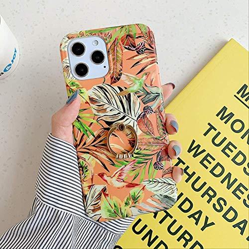 LIMITED para iPhone 12 Pro MAX Case Vintage Leaves Phone Case para iPhone 12 Mini 11 Pro MAX XS MAX X XR 8 7 Plus Funda de Soporte de Anillo Suave para iPhone 6 6S c