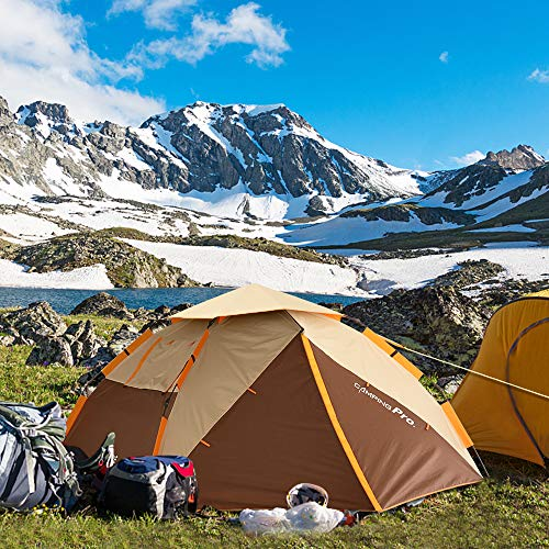 ZOMAKE Instant Tents for Camping 3 4 Person - Waterproof Dome Tent with Carry Bag, Automatic Hydraulic Pop Up Tent - Easy Setup in 60s