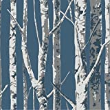 Blooming Wall Birch Tree Wallpaper Wall Mural Wall Paper Wallcoverings, 20.8 In32.8 Ft=57 Sq Ft/Roll