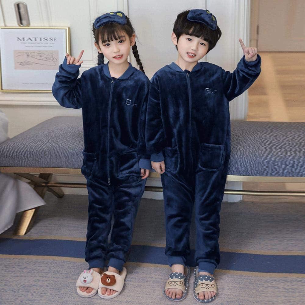 SUMHOM Pigiama Intero per Bambini Autunnali e Invernali Altezza 85-105 cm Abbigliamento da casa per Ragazzi e Ragazze a Maniche Lunghe-C Ragazza/_10 Metri
