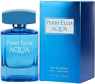 Perry Ellis Aqua For Him Eau De Toilette 3.4 oz Spray