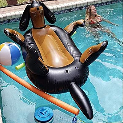 Inflatable Float Float Ride Giant Balloon Animal Pool Float Fun Pool Swim Party Toy for Water Activities(1 Pack) Pool Rafts & Inflatable Ride-ons (Color : Black, Size : Free Size)