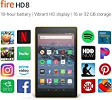 "Fire HD 8 Tablet | 8"" HD Display, 16 GB, Canary Yellow - with Special Offers"