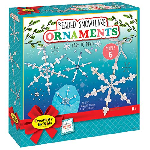 DIY beaded snowflake ornaments