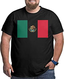 XPEACH Men's Plus-Size T-Shirt Mexico Flag (5) Big and Tall Short-Sleeve Large Size Tee