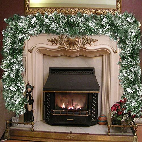 decorazioni natalizie eleganti Ghirlanda di Natale in Rattan Verde
