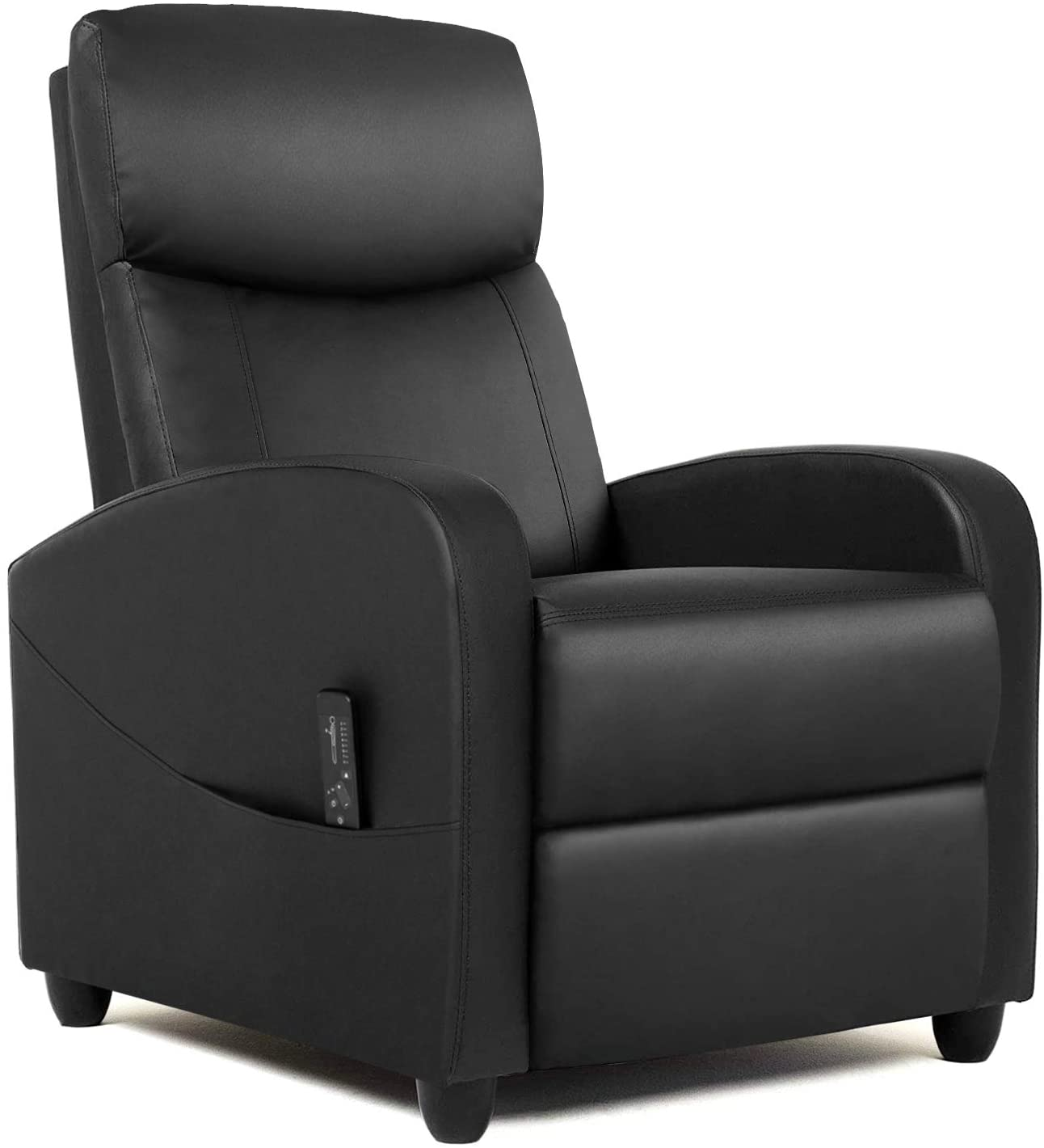 Massage Recliner Chair Living Room Chair Adjustable Home Theater Seating Winback Single Recliner Sofa Chair, Lazy Boy Recliner Padded Seat Pu Leather Push Back Recliners Armchair for Living Room