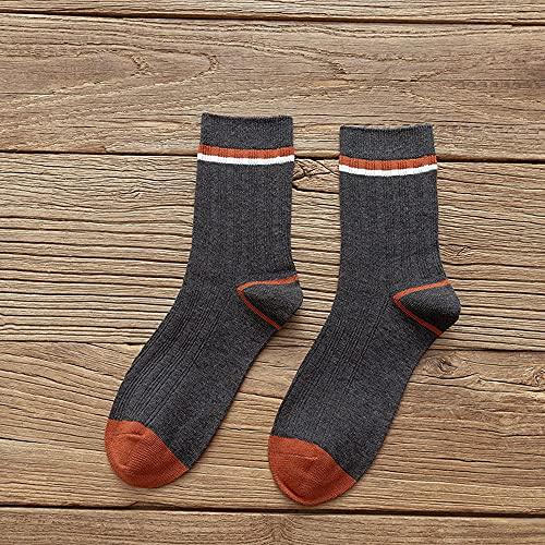 Calcetines de Deporte Calcetines de Running,Nuevos Calcetines de Tubo para Hombre de Primavera y otoño-Gris Profundo A 5PCS_Code,Calcetines Deportivos Hombre Cortos