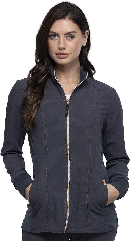 Cherokee Statement Women Warm Up Scrubs Jacket Zip Front CK365: Clothing, Shoes & Jewelry