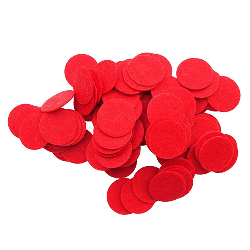 Playfully Ever After 1.5 Inch Red 94pc Stiff Felt Circles