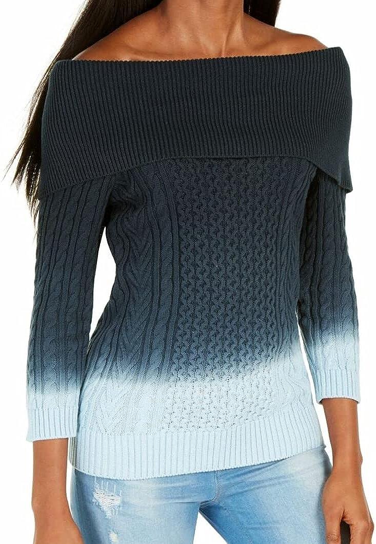 Tommy Hilfiger womens Long Sleeve Off Shoulder Sweater