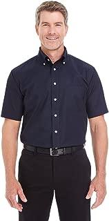 Harriton Men's Foundation 100% Long-Sleeve Twill Shirt With Teflon