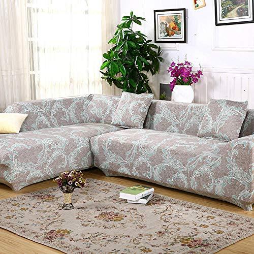 Omkeerbare Slipcover Meubelbeschermer Kreek, 2 stuks voor hoekbank, chaise longue, Bedrukte Sofa Slipcover voor 1 2 3 4 Zitbank