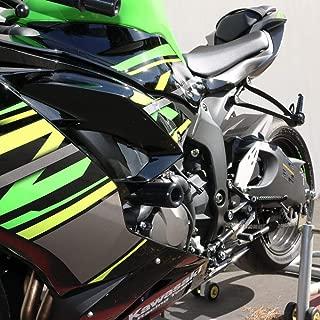 Shogun Kawasaki Ninja ZX6R ZX-6R ZX 636 2019 2020 NO Cut Black Frame Sliders - 750-4459 - MADE IN THE USA