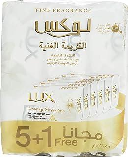 لوكس قالب صابون للجسم، الكريمة الغنية - 170 غ ، 6 قطع