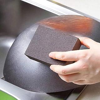 BXKEJI إسفنجة تنظيف فرشاة مطبخ ممحاة مكتب حمام المطبخ المنزلية غسيل الصحون والأواني المنزلية إسفنجة صنفرة قطنية