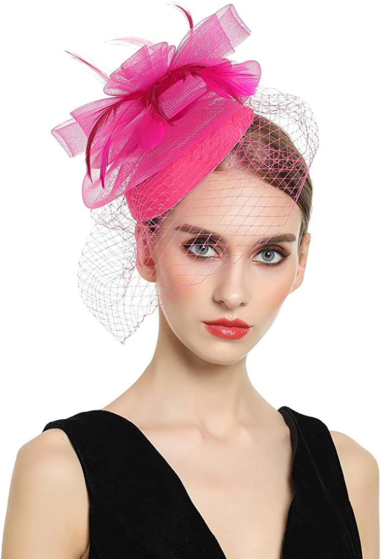 Women Fascinators Hats Courier shipping free shipping Kentucky Limited price sale Derby Hat Tea Pillbox Cocktail P