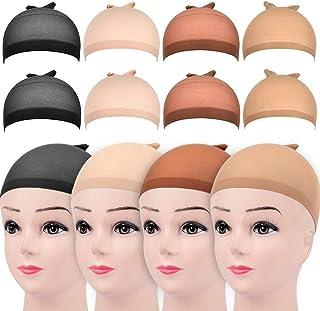 8Pcs Wig Caps, Stocking Wig Caps,Stretchy Lightweight Soft Cap for Women Wig