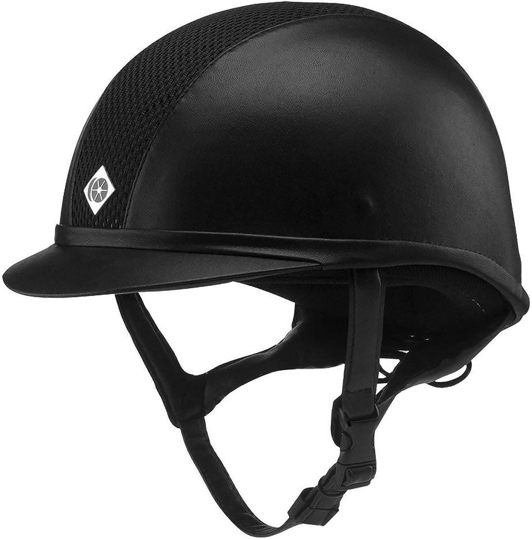 Charles Owen AYR8 Leather Riding Hat 54cm Black