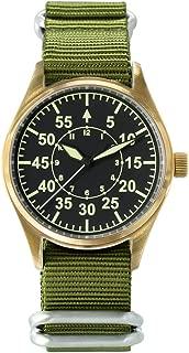Men's Vintage Bronze Pilot Watch Automatic Diving Watch 20ATM NH35 Movement