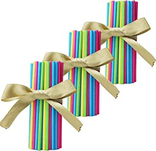 Lollipop Stick 4 INCH 200 PCS Sucker Sticks for Homemade Cake Pops, Oreo Pops, Chocolate and Hard Candy (4 Colors)