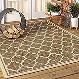 JONATHAN Y Trebol Moroccan Trellis Textured Weave Indoor/Outdoor Brown/Beige 8 ft. x 10 ft. Area Rug, Coastal,EasyCleaning,HighTraffic,LivingRoom,Backyard, Non Shedding