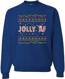 Jolly AF Sweatshirt Funny Christmas Eve Holiday Spirit Xmas Santa Sweater