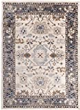 Carpeto Rugs Tapis Salon Beige Gris 60 x 100 cm Oriental/Ayla Collection
