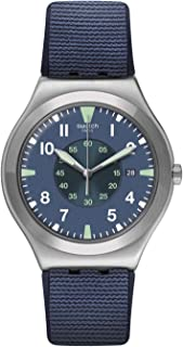 Swatch st. Steel Quartz bimaterial Strap, Blue, 19 Casual Watch (Model: YWS455)