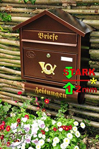 Grande batovi shpitz tetto S rame contraddistinte marrone + giornale pluridisciplinare giornale rotolo Post nischenmarkt