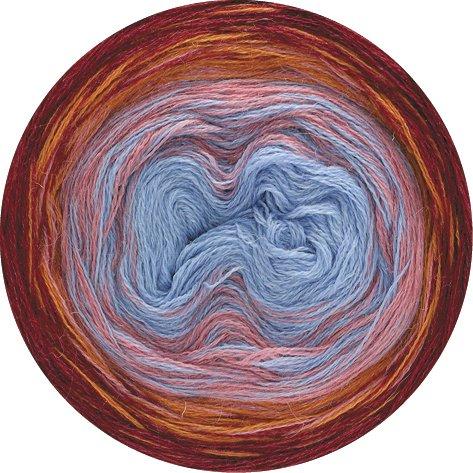 Lana Grossa Shades of Alpaca Silk 301 - Bordeaux/Orange/Beigerosa/Blau