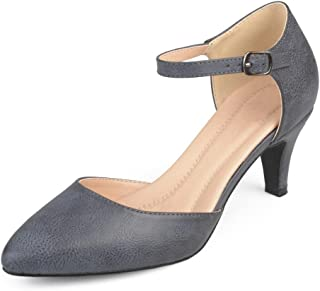 Sponsored Ad - Journee Collection Womens Comfort Sole Almond Toe Ankle Strap D'Orsay Heels