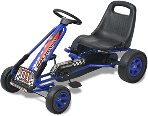 conveniente VidaXL Kart Kart Kart Pedales Ajustable de Niño azul Coche Cart Go-Kart Juguete Infantil  varios tamaños