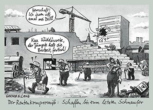 Postkarte A6 • 7768 ''Rentenkompromiss'' von Inkognito • Künstler: Greser & Lenz • Satire • Cartoons • Dialekte