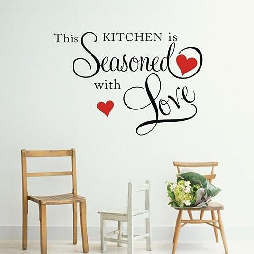 Picniva Wandtattoo This Kitchen Is Seasoned With Love Amazon De Kuche Haushalt