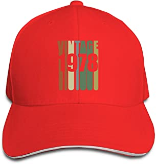 Adult Yintage 1978 Cotton Lightweight Adjustable Peaked Baseball Cap Sandwich Hat Men Women