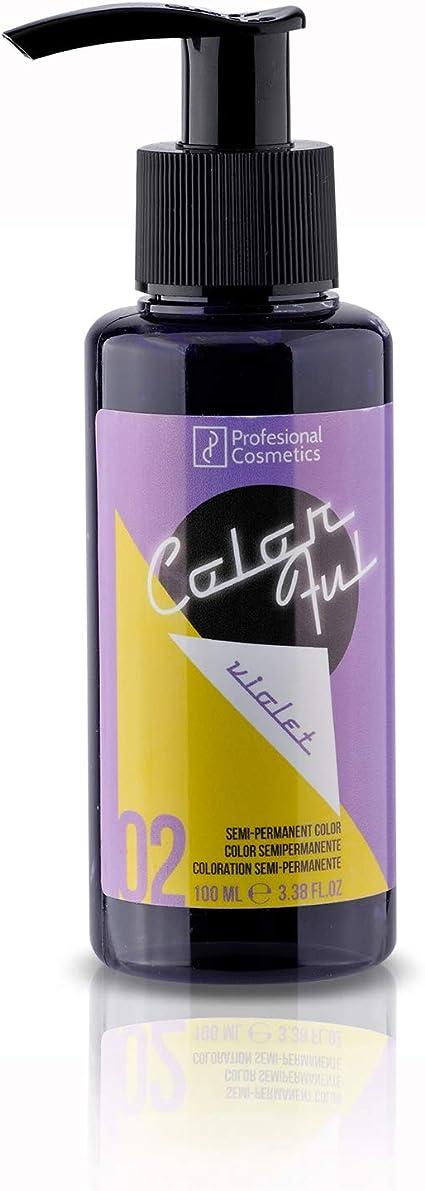 Profesional Cosmetics Colorful Violet. Máscara de tinte de pelo ...