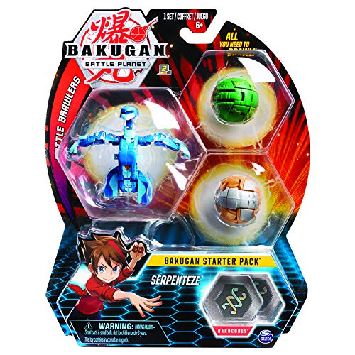 Bakugan 6054965 Starter 3-Pack, Serpenteze, Collectible Action Figures, for Ages 6 and Up, Multi Colour