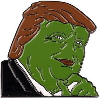 Gudeke Donald Trump Internet Meme Smug Frog Pepe Lapel Pin Badge