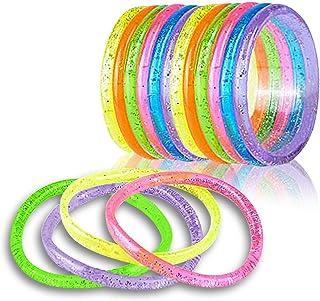 دستبندهای Glitter Glitter ArtCreativity (بسته 12) | 6 قطعه | Assorted Bright Neon Colors | مجموعه مد لباس های مورد علاقه و مجموعه | ایده هدیه شگفت انگیز برای زنان ، پسران و دختران.