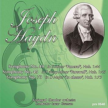 "Haydn: Symphony No. 44 ""Funeral"" - Symphony No. 45 ""Farewell"" - Symphony No. 73 ""La chasse"""