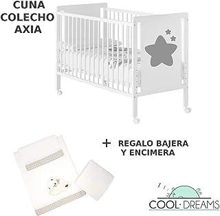 Cuna colecho Axia 120x60 + kit colecho + bajera + encimera