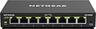 NETGEAR 8-Port Gigabit Ethernet Smart Managed Plus, Network Switch, Hub, Internet Splitter (GS308E)