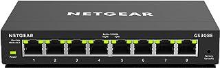 NETGEAR 8-Port Gigabit Ethernet Smart Managed Plus, Network Switch, Hub, Internet Splitter (GS308E)