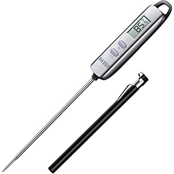 Habor 022 Meat Thermometer, Instant Read Thermometer Digital Cooking Thermometer, Candy Thermometer with Super Long Probe for Kitchen BBQ Grill Smoker Meat Oil Milk Yogurt Temperature