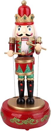 Cascanueces Tradicional de Madera Uniforme Tradicional A Decoración de Navidad/Coleccionable Cascanueces/porra Oficial de policía Ideal para una Mesa/estantería Funihut