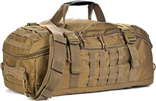 Gym Bag Duffle Bags Backpack Travel Weekender Bag for Men Women Workout Bag for Military,Sports,Overnight,Basketball,Tactical,Football Waterproof & Tear Resistant Coyote 40L